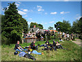 TM0733 : Human geography at Flatford on August Bank Holiday by Zorba the Geek