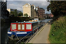 ST7464 : Houseboat moored on the River Avon in Bath by Philip Halling