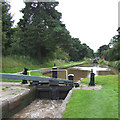 SJ6542 : Audlem Locks No 11, Shropshire Union Canal, Cheshire by Roger  Kidd