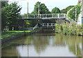 SJ9169 : Bridges at Fools Nook, Oakgrove, Cheshire by Roger  Kidd