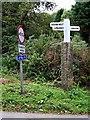 SX0557 : Signpost at Gatty's Bridge by Tony Atkin