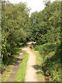 SJ9483 : The Middlewood Way at Higher Poynton, Cheshire by Roger  Kidd