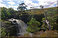 NH2592 : One of a number of waterfalls on River Douchary by Ian Capper