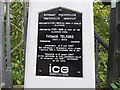 SJ2741 : Llangollen Canal, Thomas Telford plaque by John Haynes