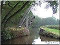 SJ9850 : Oak Meadow Ford Lift Bridge, Caldon Canal, Staffordshire by Roger  Kidd