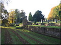 SP2872 : Abbey remains and churchyard by E Gammie