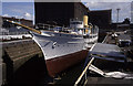 SJ3391 : SY Nahlin, Clarence Graving Dock, Liverpool by Chris Allen