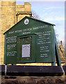 SK3499 : Notice board St Peter's Church Tankersley by Steve  Fareham