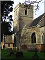 SO8762 : St Michael's and All Angels Church, Salwarpe. by Chris Allen
