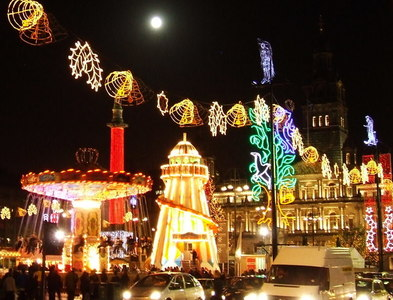 NS5965 : Christmas funfair by Thomas Nugent