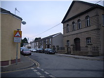 SO0503 : Church & junction at Abercanaid by Nicholas Mutton