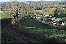 S6439 : Lane and farm buildings by kevin higgins