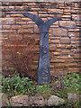 SE2933 : Sustrans Millennium Milepost, Leeds by michael ely