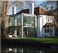 TQ0491 : House by canal with modern extension by David Hawgood