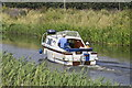 TL3996 : Motor Cruiser on the River Nene (old course) by dennis smith