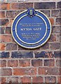Photo of Myton Gate blue plaque