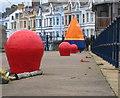 J5082 : Bollards and a buoy, Eisenhower Pier Bangor : Week 4
