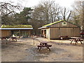 SU9585 : New café, toilets and information point at Burnham Beeches by David Hawgood