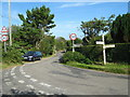 SW4534 : Road junction at Lower Ninnes by David Medcalf