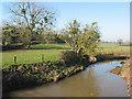 SO7723 : The River Leadon from Wedderburn Bridge by Pauline E