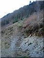 SN7078 : Steep climb to Rheidol Falls station by John Lucas