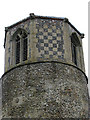 TL9594 : St Margaret's church - tower by Evelyn Simak