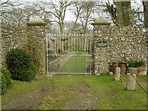 SX2299 : Penfound Manor - gates by Graham and Liz Jones