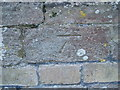 TL1381 : OS Benchmark on St Andrews Church Steeple Gidding by Michael Trolove