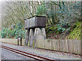 SN6878 : Old locomotive watering tank at Aberffrwd by John Lucas