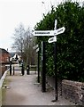 SK2002 : Canal Signpost, Fazeley Junction by Rob Farrow