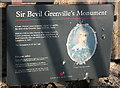 ST7270 : 2008 : Board at Sir Bevil Greville's Monument, Lansdown by Maurice Pullin