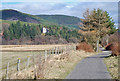 NO3796 : The line of the Deeside railway east of Ballater by Nigel Corby