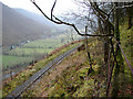 SN7178 : The Vale of Rheidol Railway above Cwm Rheidol by John Lucas