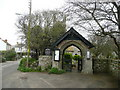 SW5841 : Lych gate at St. Gwithians by Jonathan Billinger