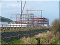 SN5980 : Office construction beside the Vale of Rheidol Railway by John Lucas