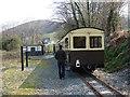 SN6778 : Vale of Rheidol Railway train at Nantyronen by John Lucas