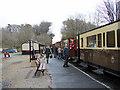 SN7376 : Arrival at Devil's Bridge, Vale of Rheidol Railway by John Lucas