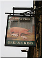 TL0028 : Sow & Pigs, Pub Sign by David Lally