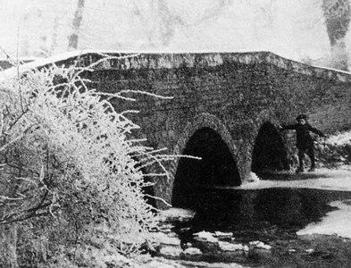 SK0420 : Moreton Brook Bridge by Fredric Bonney