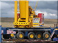 SD8218 : Crane on site of Turbine Tower No 11 by Paul Anderson