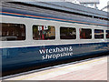 TQ2782 : Temporary branding on a Wrexham & Shropshire carriage by John Lucas