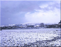 SX3374 : Winter snow at Bray Shop by Trevor Rickard
