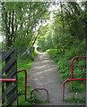 SE0125 : Cycle path alongside Mytholmroyd Station by Betty Longbottom