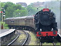 SD7916 : Locomotive approaching Ramsbottom Station by Paul Anderson