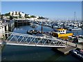 SX9163 : Walkway to pontoon, Torquay Harbour by Derek Harper