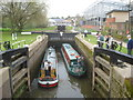 SO8453 : Locks into the Diglis Basin by Trevor Rickard