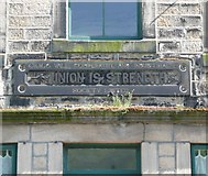 SE0023 : Inscribed stone on former Co-op shop, Cragg Road B6138, Cragg Vale, Mytholmroyd by Humphrey Bolton