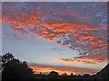 TQ2995 : Sunset, Oakwood, London N14 by Christine Matthews