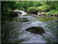 SN8809 : Waterfall on Afon Pyrddin by Alan Bowring