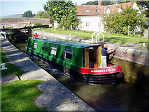 SU2163 : Cadley Lock No 54, Kennet and Avon Canal by Dr Neil Clifton